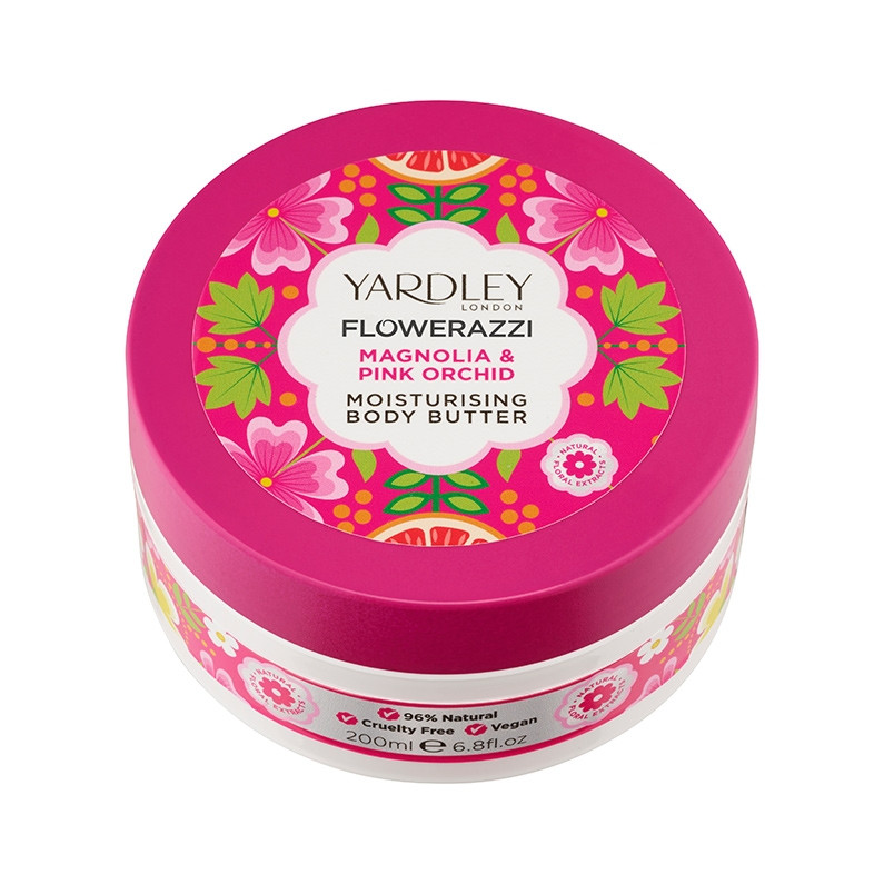 FLOWERAZZI Magnolia & Pink Orchid Moisturising Body Butter