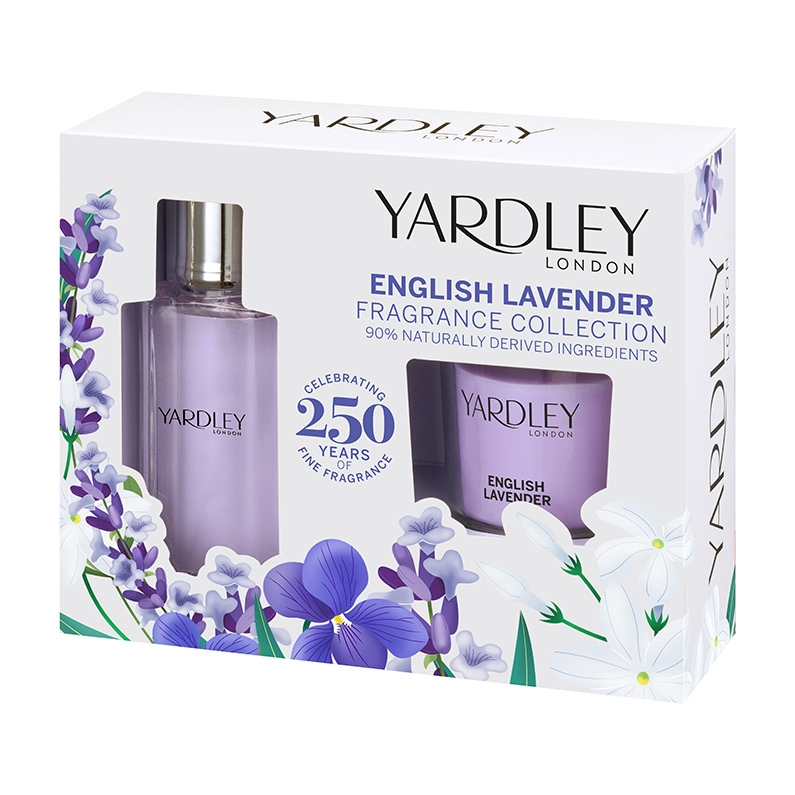 English Lavender Fragrance Collection with Candle for Her