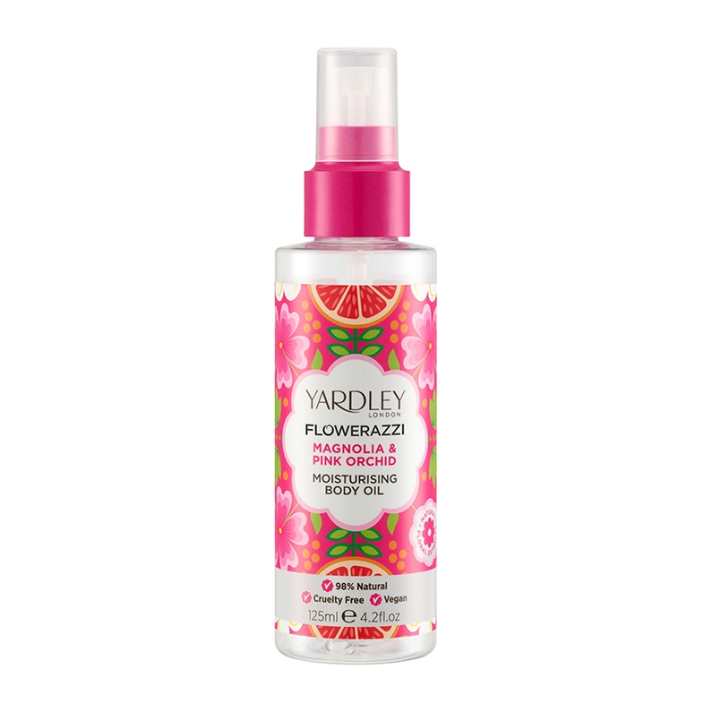 FLOWERAZZI Magnolia & Pink Orchid Moisturising Body Oil